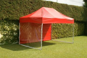 Tenda com Laterais Transparentes